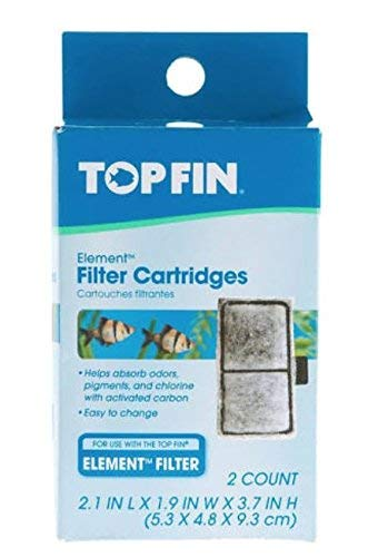 Top Fin Filter Cartridges (2.1 in x 1.9 in x 3.7 in) (4 Count) by Top Fin Elements