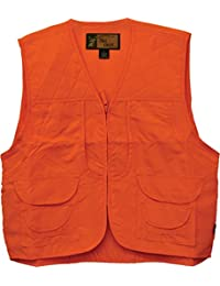 Trail Crest Men's Blaze Orange Safety Front Loader Vest W/ Happy Hunting Magnet