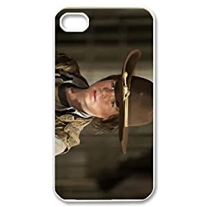 Movie Series Slim-fit DIY Mobile Snap-on Back Case Cover For iPhone 4,4s-Walking Dead/Transparent Shell