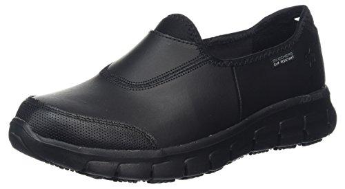 Skechers Sure Track Erath Femmes Chaussures De Travail Antidérapantes Noir