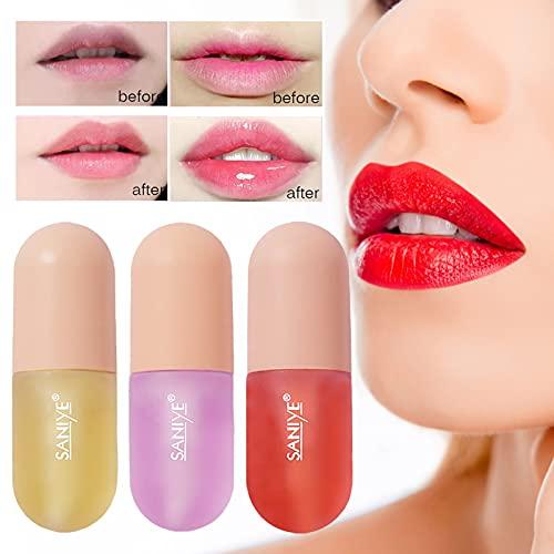 Lip Plumper, Natural Lip Plumper and Lip Care Serum, Lip Mask, Hydrating & Reduce Fine Lines Lip Care Serum Lip Enhancer For Fuller 3ml(Purple)