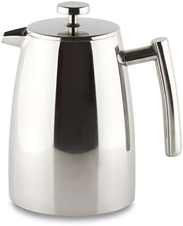 Grunwerg Cafe Ole Double Wall Insulated 16 Cup 68oz Stainless Steel Cafetiere