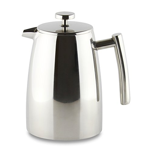 Grunwerg Cafe Ole Double Wall Insulated 16 Cup/ 68oz Stainless Steel Cafetiere