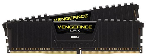 Corsair Vengeance LPX 16GB (2x8GB) DDR4 DRAM 2133MHz C13 Desktop Memory Kit - Black (CMK16GX4M2A2133C13) by Corsair