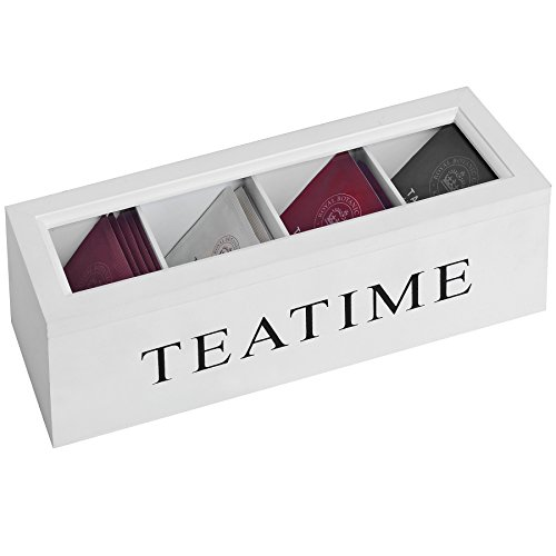 Best Review Of Hill Interiors Tea Time Teabag Box (One Size) (White)