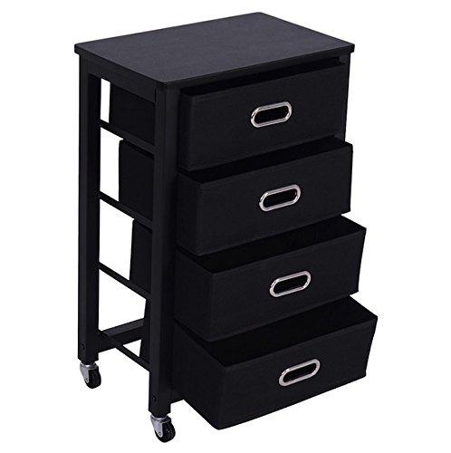 Rolling Heavy Duty File Cabinet 4 Drawer Office Furniture: Black Rolling File Cabinet With 4 Drawers Mobile Heavy