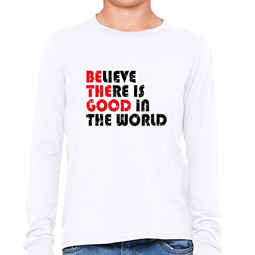 Price comparison product image Be The Good - Believe There Is Good In The World - Karma Girl's Long Sleeve T-Shirt