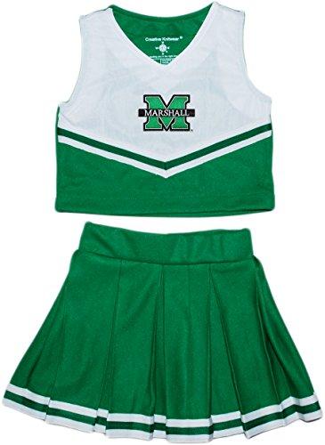 Cheerleader Piece 2 Dress (Creative Knitwear Marshall University NCAA College 2-Piece Cheerleader Dress)