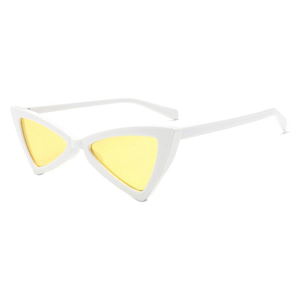Women Vintage Sunglasses TANGSen Cateye Frame Shades Acetate Frame UV Glasses Fashion Sunglasses (A,One Size)