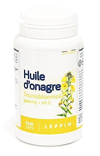 Leppin – Aceite de onagro 500 mg + Vit E 120 Cápsulas aceites (– Equilibre