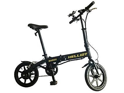 Helliot Bikes Siam Bicicleta eléctrica Plegable con batería de Litio, Adultos Unisex, Amarillo/Negro, M-L: Amazon.es: Deportes y aire libre