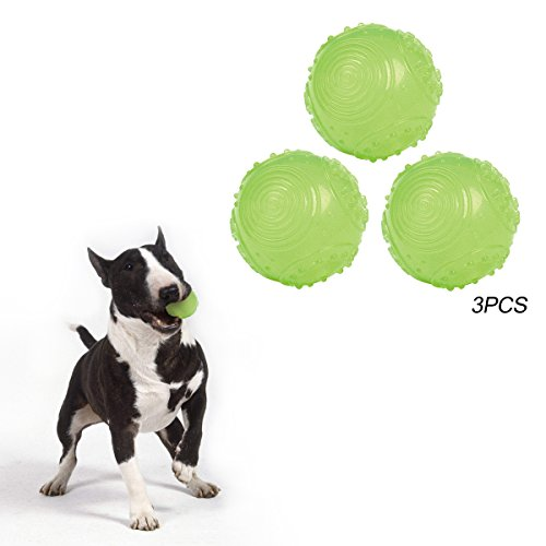 Cheap SymbolLife Dog Ball Toys Glow in The Dark Ball Dia 2.2in,3pcs