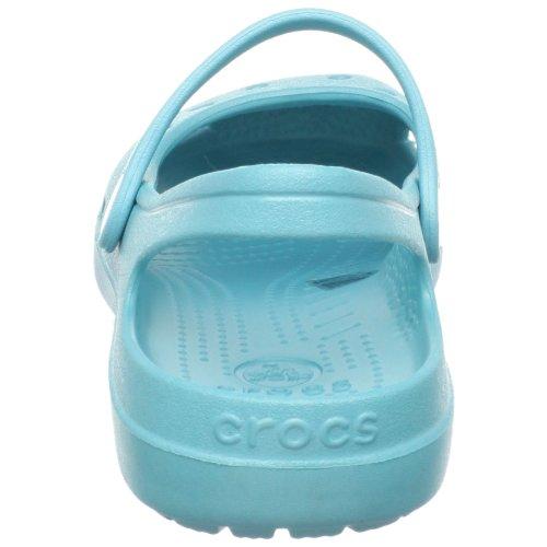 mujer Crocs correa para con planos 449 Azul descubierto empeine y en Zapatos Aqua Shayna talón el 7rqBx7