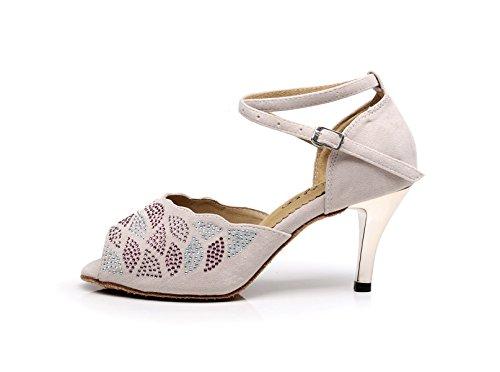 uk6 5cm De Rose8 Latin Femme Jshoe Cristaux Jazz Chacha Salsa Chaussures Eu39 Our40 Modern Sparking Talons Satin Tango Sandales Hauts Talon Samba qpHPUwTw