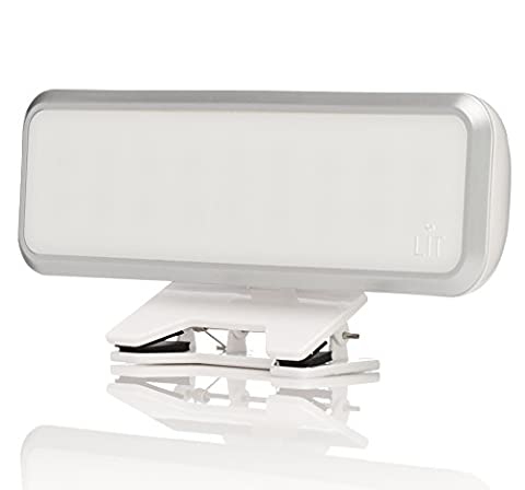 LIT Clip on Camera Light for Cell Phones, Tablets, Computers, Laptops - Features 18 LEDs, Dimmer & Diffuser - Rechargeable Selfie Light - for iPhone, iPad, Samsung Galaxy, and more - (Tablet Computers)
