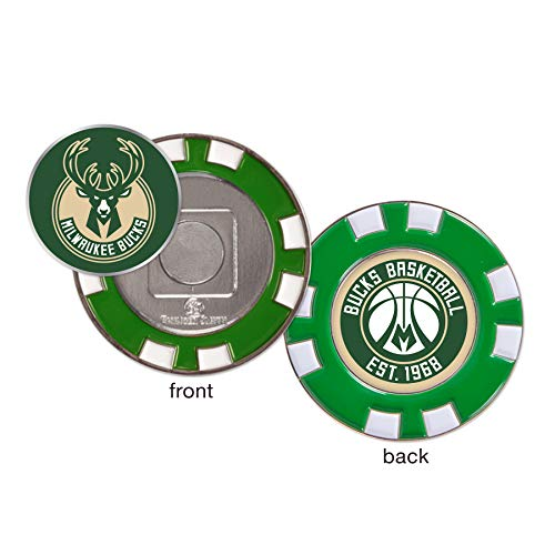 - WinCraft Milwaukee Bucks Poker Chip Marker (with Removable Ball Marker)