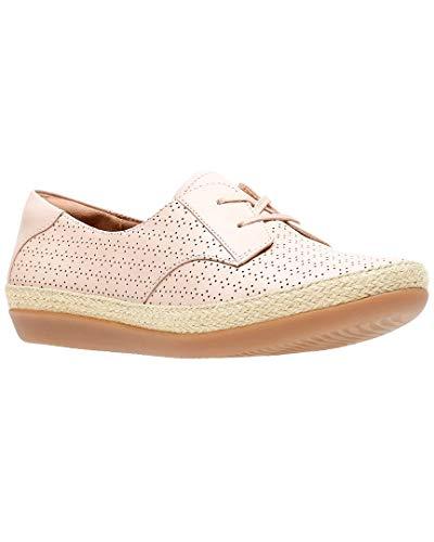CLARKS Women's Danelly Millie Sneaker, Blush Pink Leather, 7.5 Medium US ()