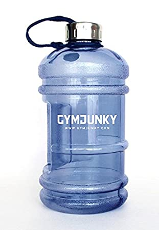 1c0015e334 BLUE Gym Junky Water Jug / Drinking Bottle 2.2 Litres - Ideal for Fitness  and Strength Training: Amazon.co.uk: Sports & Outdoors
