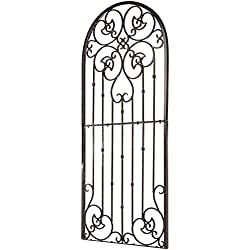 H Potter Garden Trellis Wrought Iron Heavy Scroll Metal Decoration (Large)