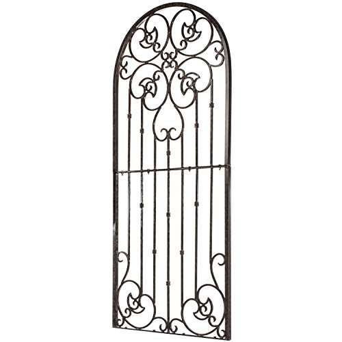 Top Scroll Iron - H Potter Garden Trellis for Climbing Plants Metal Wrought Iron Outdoor Wall Panel for Vines Flowers