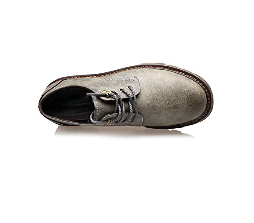 A Morbido Scarpe Oxford Punta Grey da Pigro Tonda Bean Casual Rete Business da Traspiranti Fondo Scarpe Scarpe Uomo Ow174U