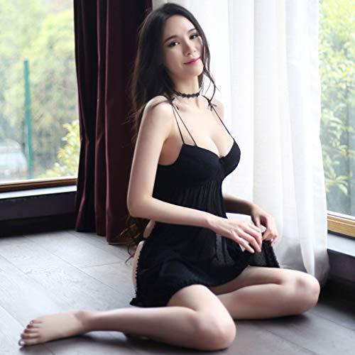En Malla Sexy De V Vestido Tela Pijama Para Profundo Babydoll Mujer Con Lencería vHpwRqn6Z