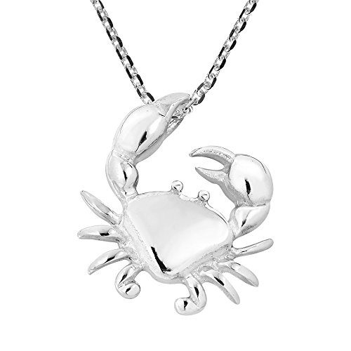 Sterling Silver Cancer Zodiac - AeraVida Crab Claws Cancer Zodiac .925 Sterling Silver Pendant Necklace