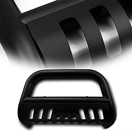 4X4TAG Premium Quality Matte Black Powder Coated Carbon Steel Bull Bar Fits Chevy//GMC Yukon//Yukon XL 1500 2000-2006 Bumper Grille Guard with Skid Plate and Optional Light Holes