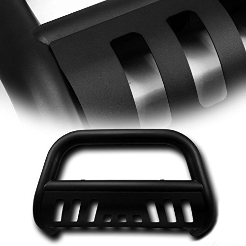 - 4X4TAG Premium Quality Matte Black Powder Coated Carbon Steel Bull Bar Fits Chevy/GMC Tahoe/Suburban 2000-2006 (Bumper Grille Guard with Skid Plate and Optional Light Holes)