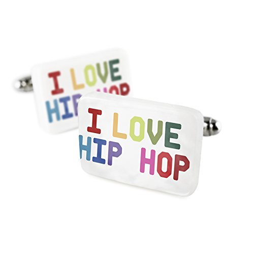 Cufflinks I Love Hip Hop,Colorful Porcelain Ceramic NEONBLOND by NEONBLOND