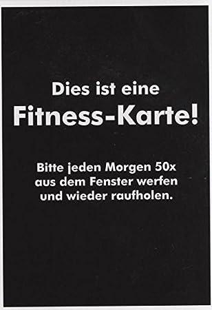 Spruche Postkarte Dies Ist Eine Fitness Karte Amazon De