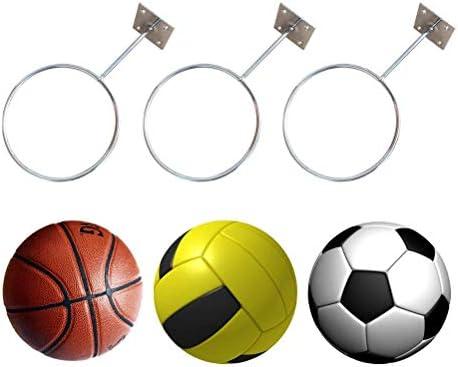 Soporte de Pared para Pelotas de Hierro Dyda6 Soporte de Bolas Deportivas f/útbol balones de f/útbol Voleibol tama/ño Tama/ño Libre Color Plateado Baloncesto