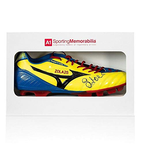 Gianfranco Zola Signed Football Boot Mizuno - Gift Box Autograph Cleat - Autographed Soccer Cleats