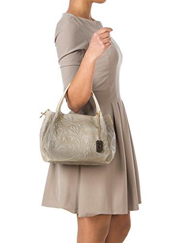 32 Taschen Schultertasche Anna Morellini Beige ZOB8I