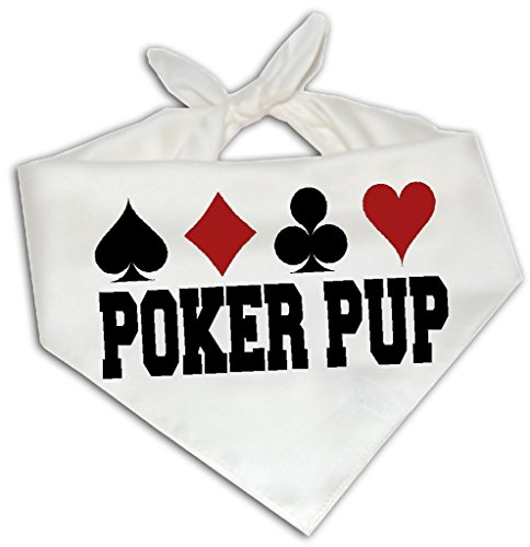 Bandana Pup (Poker Pup - Dog Bandana One Size Fits Most - Card Suits Player Funny Humor)