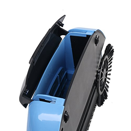Lazy 3 in 1 Household Cleaning Hand Push Automatic Sweeper Broom – Including Broom & Dustpan & Trash Bin – Cleaner Without Electricity Environmental (Blue) by Dracarys (Image #4)