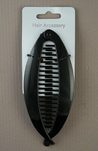 Accessoires Cheveux–14cm poisson clip banane Noir–NEUF