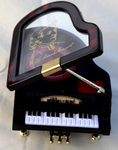 Grand Piano shaped Music box - Plays a little night music Vectis