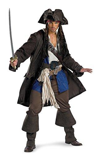 5626XXL 50-52 Captain Jack Sparrow Prestige Adult