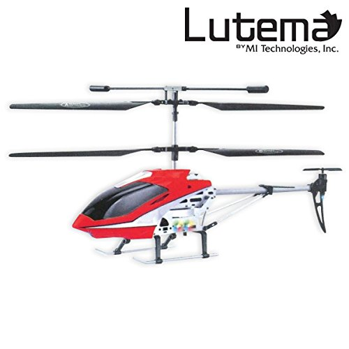Lutema Mid-Sized 3.5CH Remote Control Helicopter, Red