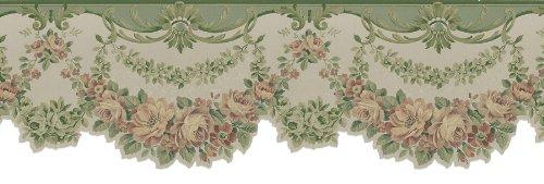 Brewster Mirage Satin Classics VIII - Cenefa para pared, Verde