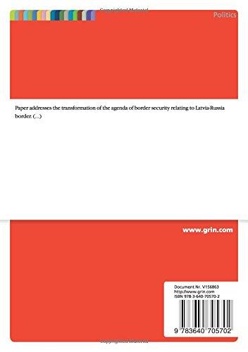 Paper on specific case study of Latvia (EU)/Russia border ...
