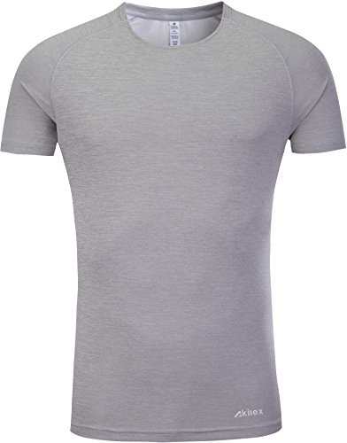 87e395e8f Galleon - Akilex Men's Tight Sports Short Sleeve Comfortable Quick Dry  Fitness Running Shirt Top (3012 Light Grey, XXL (Chest 42-43 Inch)