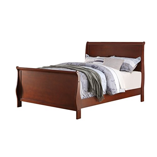 (Poundex PDEX-F9231T Twin Bed, Brown)