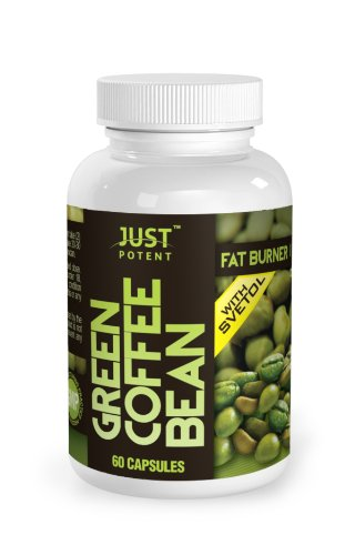 Just Potent Green Coffee Bean Extract with Svetol :: 50% Chlorogenic (CGA) Acid :: All-Natural Grade A+ Fat Burner and Weight Loss Supplement :: 60 Capsules, Health Care Stuffs