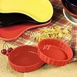 5.5 oz Red Quiche Dish 24 Ct
