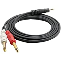 Pyle-Pro PCBL43FT6 12 Gauge, 6 feet, 3.5mm Male Stereo to Dual 1/4-Inch Male Mono Y-Cable Adapter