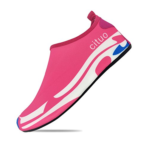 YOUR SMILE Women and Men Water Shoes Barefoot Quick-Dry Ultra-Light Breathable Aqua Socks for Beach Swim Yoga Exercise Pink Series 1