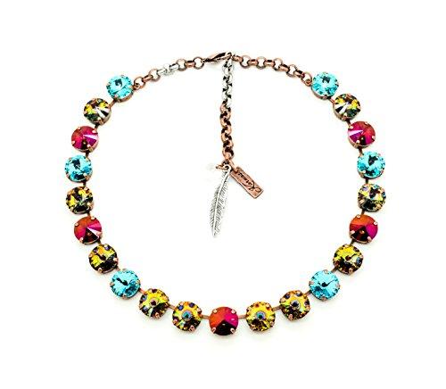 perky-peacock-12mm-crystal-rivoli-choker-1st-collaboration-series-swarovski-elements-pick-your-finis