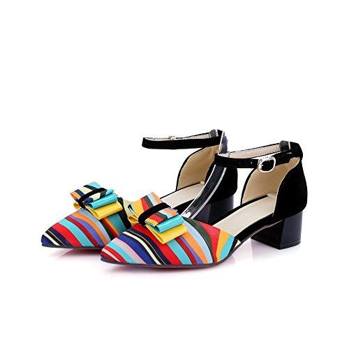 Kitten Womens SLC03884 Assorted Lining Cold Sandals Black Heel Urethane AdeeSu Color tdwqgHnft